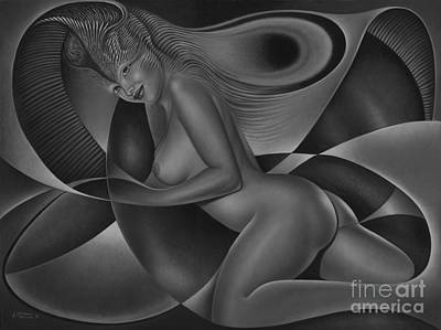 Nudes Paintings - Dynamic Queen 4 by Ricardo Chavez-Mendez