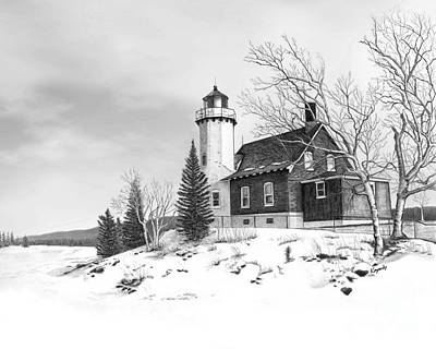 Eagle Harbor Lighthouse Art Print by Darren Kopecky