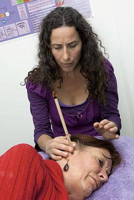Ear Candle Therapy Art Print by Science Photo Library