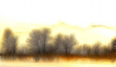 Nature Abstracts Painting - Early In The Morning by Steve K