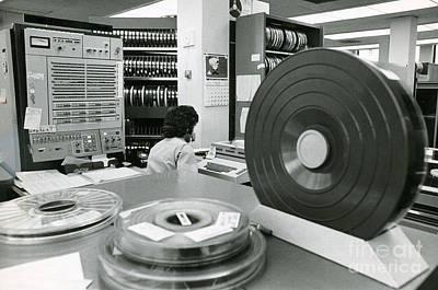 Processor Photograph - Early Mainframe Computer System by Van D. Bucher