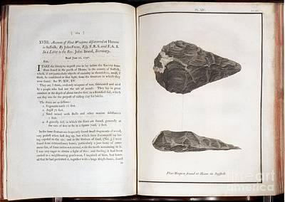 Handaxe Photograph - Early Man-made Handaxe, 1800 by Paul D. Stewart