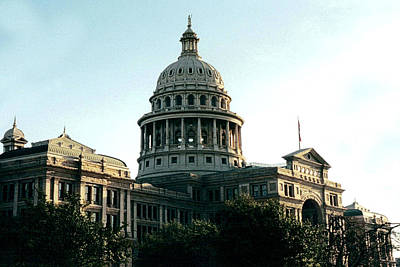 Early Morning At The Texas State Capital Art Print