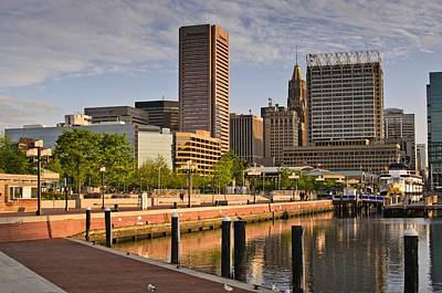 Photograph - Early Morning Baltimore Inner Harbor by Marianne Campolongo
