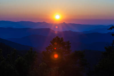 Photograph - Early Morning Sunrise Over Blue Ridge Mountains by Alex Grichenko