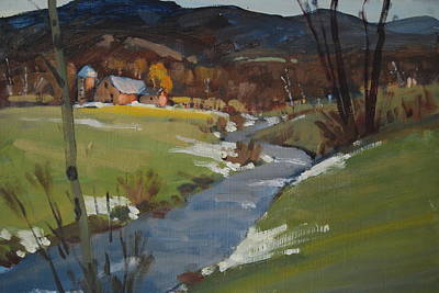 Berkshire Hills Painting - Early Spring by Len Stomski