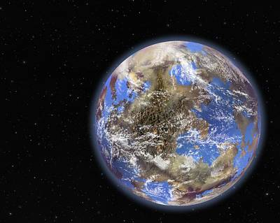 Terrestrial Sphere Photograph - Earth-like Extrasolar Planet, Artwork by Science Photo Library