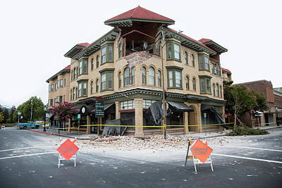 Earthquake Damage Art Print by Peter Menzel
