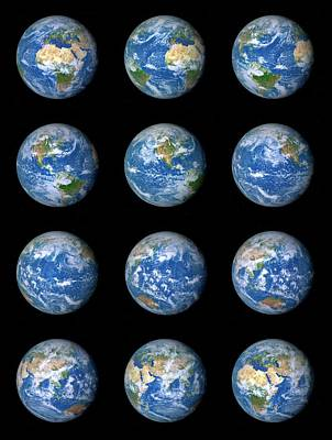Earth's Rotation Art Print