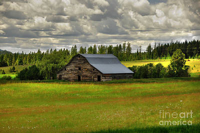 Photograph - Eastside Road Barn by Sam Rosen