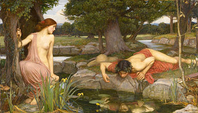 Echo And Narcissus Art Print
