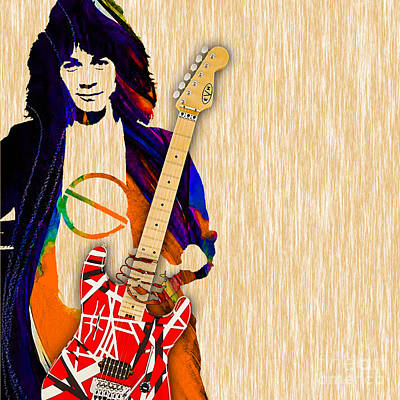 Rock And Roll Mixed Media - Eddie Van Halen Special Edition by Marvin Blaine