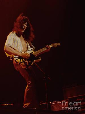 Van Halen Photograph - Eddie Van Halen - Van Halen At The Oakland Coliseum 12-2-1978 Rare Unreleased by Daniel Larsen