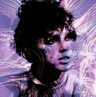 Test Pattern Digital Art - Edie  by Elizabeth McTaggart