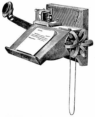 Edison Carbon Telephone Art Print