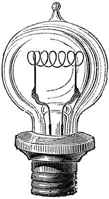 Photograph - Edison Lamp, 19th Century by Granger