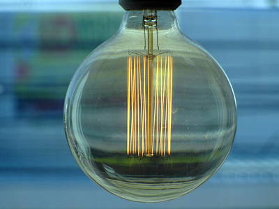 Edison Photograph - Edison Light Bulb by Ian Scholan