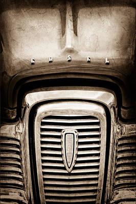 Photograph - Edsel Corsair Grille Emblem by Jill Reger