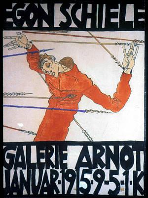 Self-portrait Drawing - Egon Schiele (1890-1918) by Granger