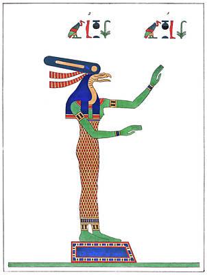 Drawing - Egypt Nekhbet, 1823 by Granger