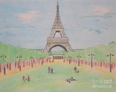 Eiffel Tower Art Print by Denise Tomasura