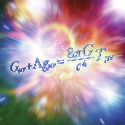 Equation Photograph - Einstein Field Equation by Alfred Pasieka