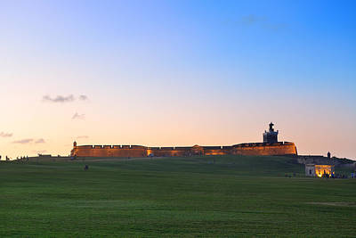 Photograph - El Morro Castle At Old San Juan by Songquan Deng