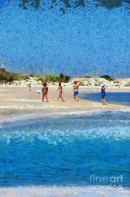 Painting - Painting Of Elafonisi Beach by George Atsametakis