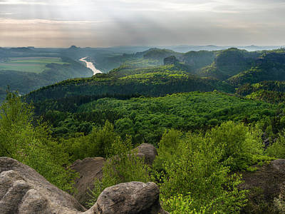 Dresden Wall Art - Photograph - Elbe Sandstone Mountains by Martin Zwick