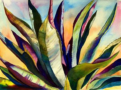 Electric Agave Art Print