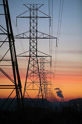 Township Photograph - Electricity Pylons by Jim West