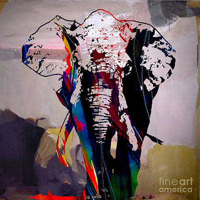 Africa Mixed Media - Elephant by Marvin Blaine