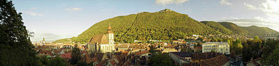 Romania Photograph - Elevated View Of A Town, Brasov, Brasov by Panoramic Images