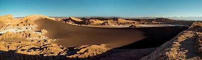 Valley Of The Moon Photograph - Elevated View Of Desert, Valle De La by Panoramic Images