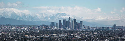 Elevated View Of Downtown Los Angeles Art Print by Panoramic Images