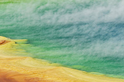 Elevated View Of Grand Prismatic Spring Art Print
