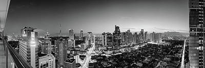 Elevated View Of Skylines In A City Art Print