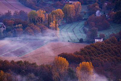 Scenic View In France Photograph - Elevated View Of The Dordogne River by Panoramic Images