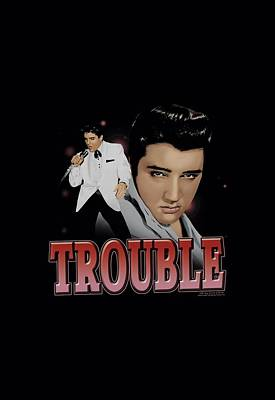 The King Digital Art - Elvis - Trouble by Brand A