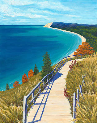Lakeshore Painting - Empire Bluff Trail by Karin Petersen