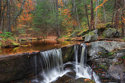 Autumn In New England Photograph - Enders Falls by Bill Wakeley