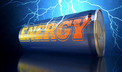Exuberance Digital Art - Energy Drink Can by Allan Swart
