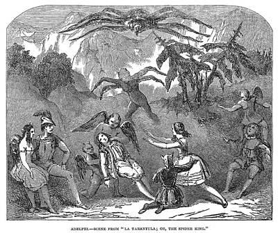 Tarantula Painting - England Pantomime, 1850 by Granger