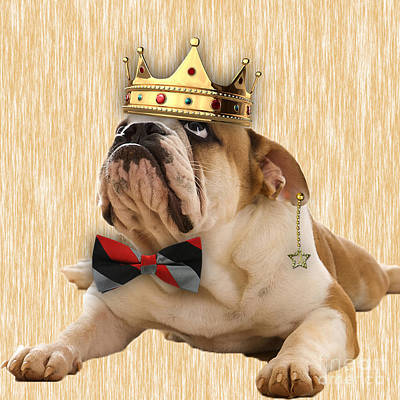 Bulldog Mixed Media - English Bulldog Bowtie Collection by Marvin Blaine