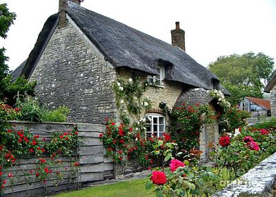 Photograph - English Cottage  by Katy Mei