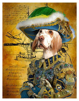Painting - English Setter Art Canvas Print  by Sandra Sij