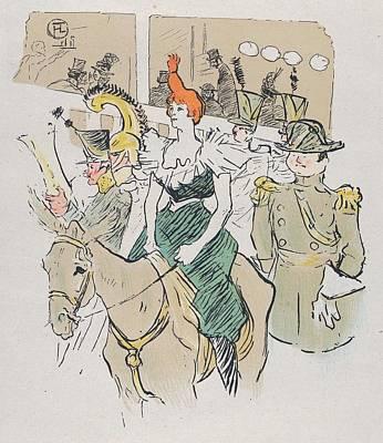 Rire Painting - Entree De Cha-u-kao by Toulouse-Lautrec