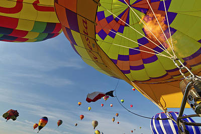 Hot Air Balloon Photograph - Envelope Inflation At The Albuquerque by William Sutton