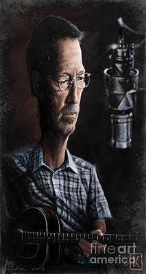 Clapton Digital Art - Eric Clapton by Andre Koekemoer