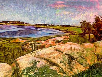 Digital Art - Estuary On Cape Ann - Horizontal  by Lyn Voytershark